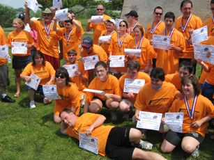 Athletes group photo